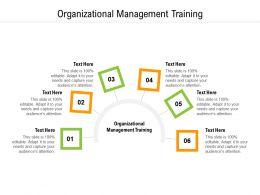 Organizational Management Training Ppt Powerpoint Infographics Slideshow Cpb