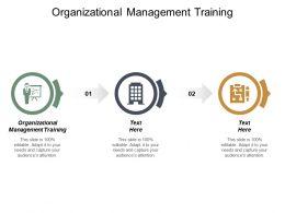 Organizational Management Training Ppt Powerpoint Presentation Show Deck Cpb