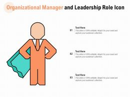 Organizational Manager And Leadership Role Icon