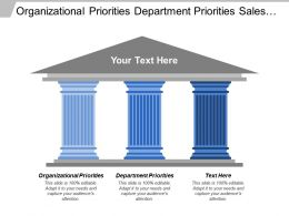 Organizational Priorities Department Priorities Sales President Sales Manager