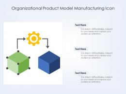 Organizational Product Model Manufacturing Icon