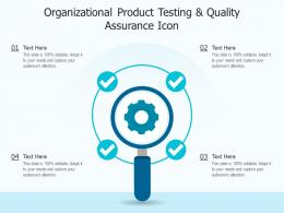 Organizational Product Testing And Quality Assurance Icon