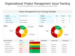 Organizational Project Management Issue Tracking