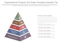 Organizational Purpose And Goals Template Example File