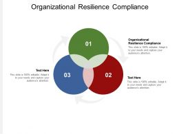 Organizational Resilience Compliance Ppt Powerpoint Presentation Infographics Designs Cpb
