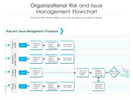 Organizational Risk And Issue Management Flowchart