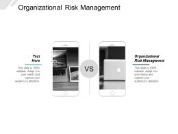 Organizational Risk Management Ppt Powerpoint Presentation Layouts Guidelines Cpb