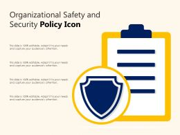 Organizational Safety And Security Policy Icon