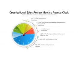 Organizational Sales Review Meeting Agenda Clock