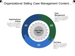 Organizational Selling Case Management Content Marketing Six Sigma Fundamentals Cpb