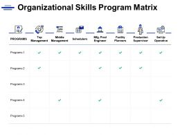 Organizational Skills Program Matrix Operative Ppt Powerpoint Presentation Icon Summary