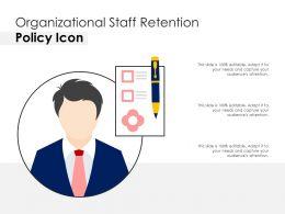Organizational Staff Retention Policy Icon