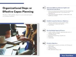 Organizational Steps For Effective Capex Planning