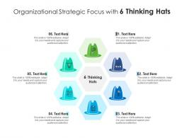 Organizational Strategic Focus With 6 Thinking Hats Infographic Template