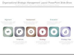 Organizational Strategic Management Layout Powerpoint Slide Show