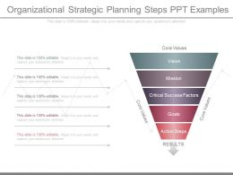 Organizational Strategic Planning Steps Ppt Examples