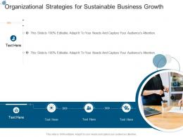 Organizational Strategies For Sustainable Business Growth Infographic Template