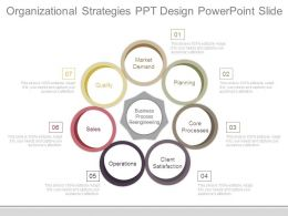 Organizational Strategies Ppt Design Powerpoint Slide