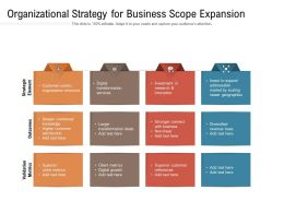 Organizational Strategy For Business Scope Expansion