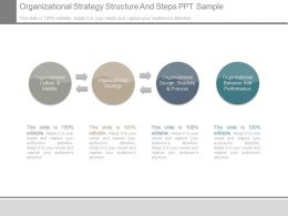 Organizational Strategy Structure And Steps Ppt Sample
