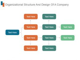 Organizational Structure And Design Of A Company Ppt Slide Design