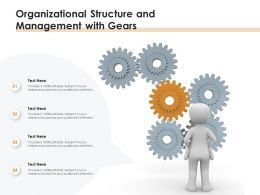 Organizational Structure And Management With Gears