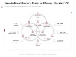 Organizational Structure Design And Change Product Manager Ppt Topics