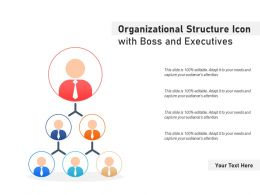 Organizational Structure Icon With Boss And Executives