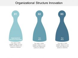 Organizational Structure Innovation Ppt Powerpoint Presentation Model Rules Cpb