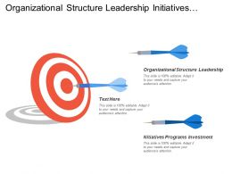 Organizational Structure Leadership Initiatives Programs Investment Measures Scorecards