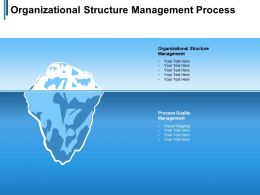 Organizational Structure Management Process Quality Management Visual Mapping Cpb