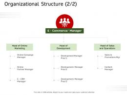 Organizational Structure Marketing Ecommerce Solutions Ppt Introduction