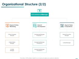 Organizational Structure Online Marketing Ppt Powerpoint Presentation Pictures