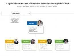 Organizational Structure Presentation Visual For Interdisciplinary Team Infographic Template
