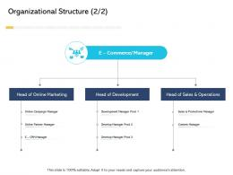 Organizational Structure Sales Digital Business And Ecommerce Management Ppt Icon Designs Download