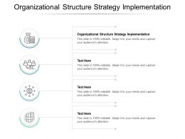 Organizational Structure Strategy Implementation Ppt Powerpoint Presentation Layouts Display Cpb