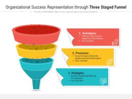 Organizational Success Representation Through Three Staged Funnel