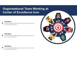 Organizational Team Working At Center Of Excellence Icon