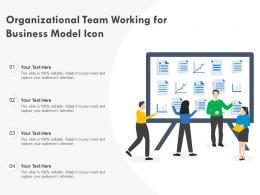 Organizational Team Working For Business Model Icon