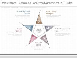 Organizational Techniques For Stress Management Ppt Slides