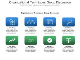 Organizational Techniques Group Discussion Ppt Powerpoint Presentation Icon Example Cpb