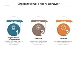 Organizational Theory Behaviour Ppt Powerpoint Presentation Infographics Brochure Cpb