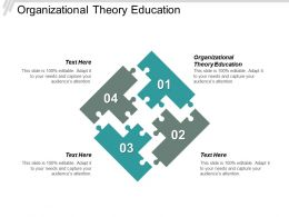 Organizational Theory Education Ppt Powerpoint Presentation Styles Layout Ideas Cpb