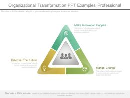 Organizational Transformation Ppt Examples Professional