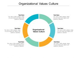 Organizational Values Culture Ppt Powerpoint Presentation Slide Cpb
