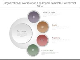 Organizational Workflow And Its Impact Template Powerpoint Slide