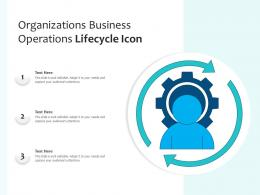 Organizations Business Operations Lifecycle Icon