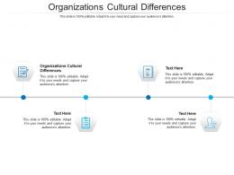 Organizations Cultural Differences Ppt Powerpoint Presentation Slides Mockup Cpb
