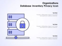 Organizations Database Inventory Privacy Icon