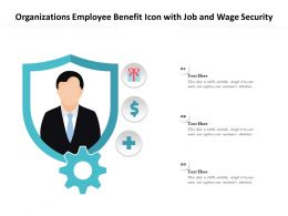 Organizations Employee Benefit Icon With Job And Wage Security